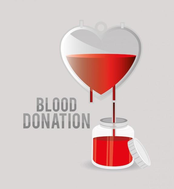 Progettazione di donazioni di sangue. Vettore Premium
