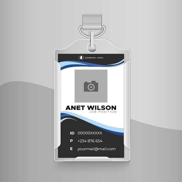 Progettazione di effetto ondulato carta d'identità aziendale Vettore gratuito