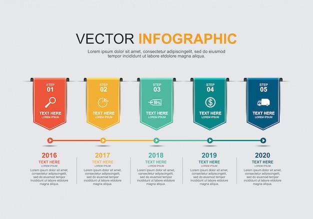 Progettazione di elementi infografici Vettore Premium