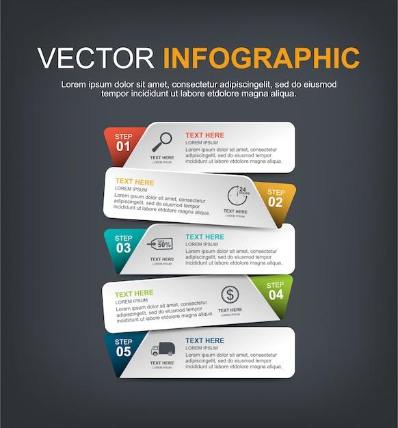 Progettazione di elementi infographic con opzioni Vettore Premium