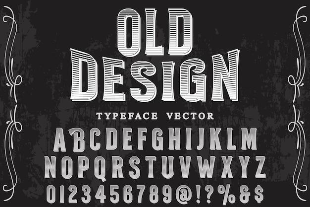 Progettazione di etichette alfabeto di vecchio stile Vettore Premium