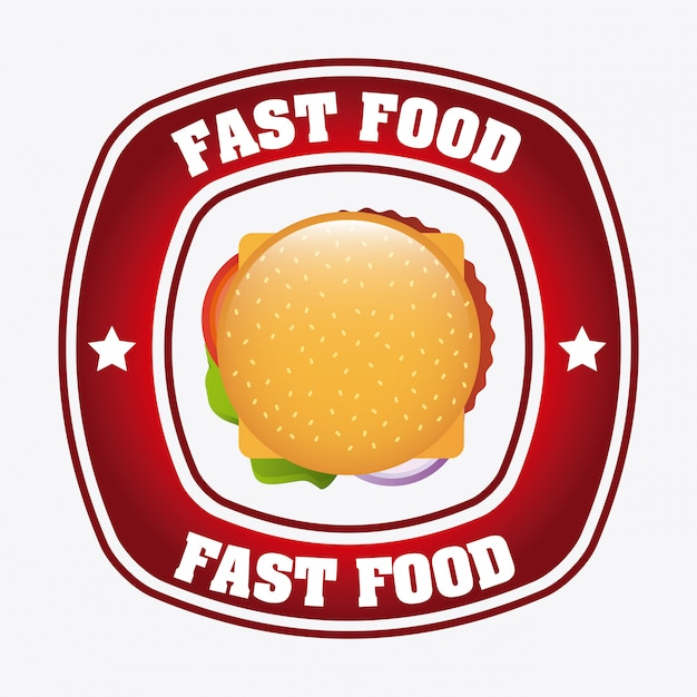 Progettazione di fast food Vettore gratuito