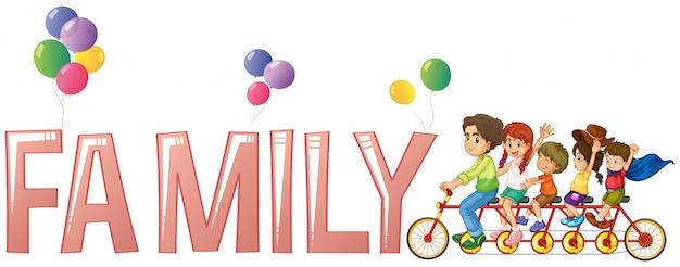 Progettazione di font per la famiglia di parole Vettore gratuito