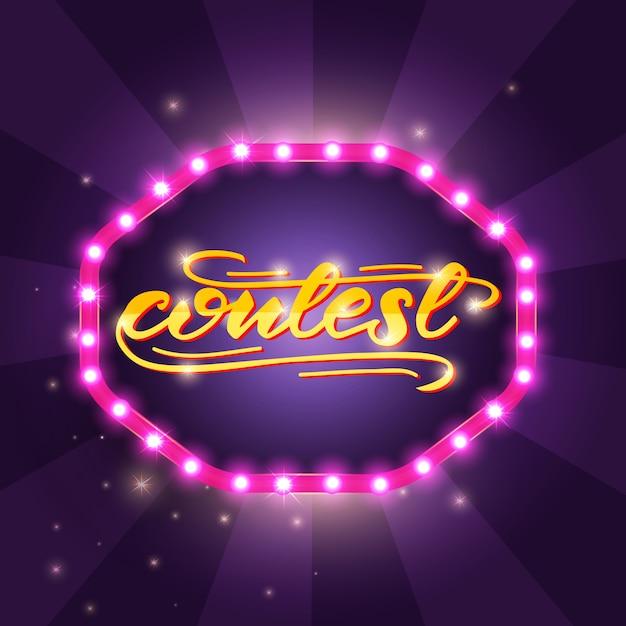 Progettazione di lettere con una parola concorso Vettore Premium
