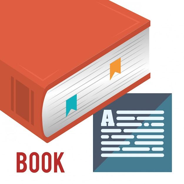 Progettazione di libri Vettore Premium
