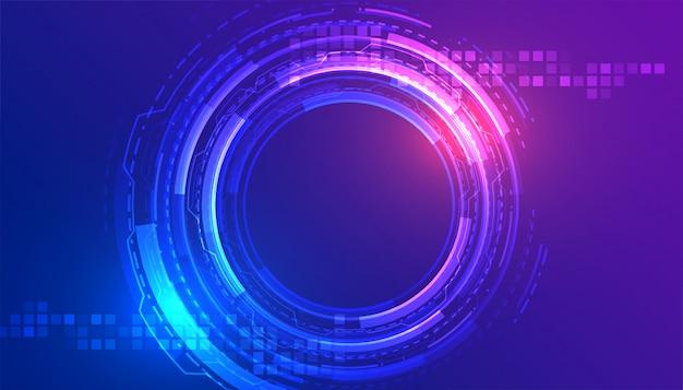 Progettazione di massima futuristica digitale del fondo di tecnologia astratta Vettore gratuito