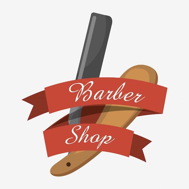 Progettazione di negozi di barbiere Vettore gratuito