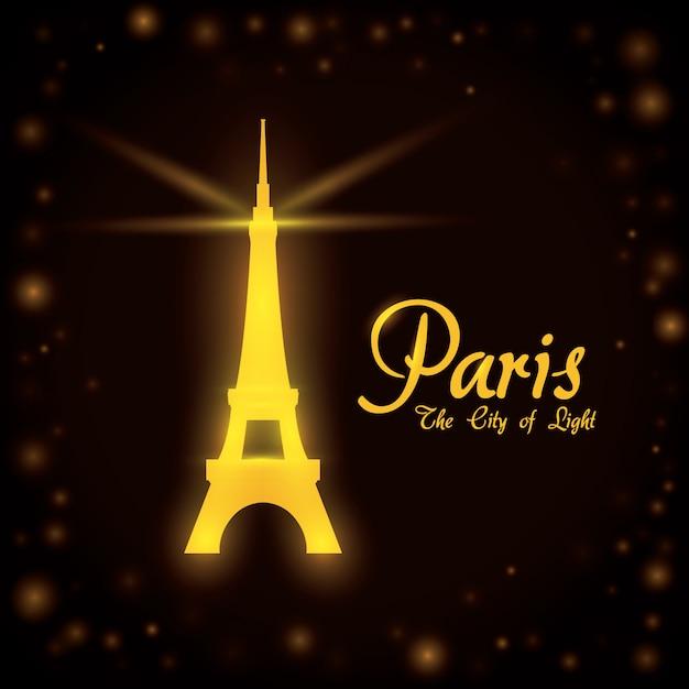 Progettazione di parigi, illustrazione vettoriale. Vettore Premium