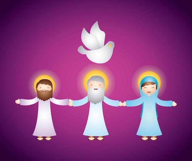 Progettazione di religione cattolica Vettore Premium
