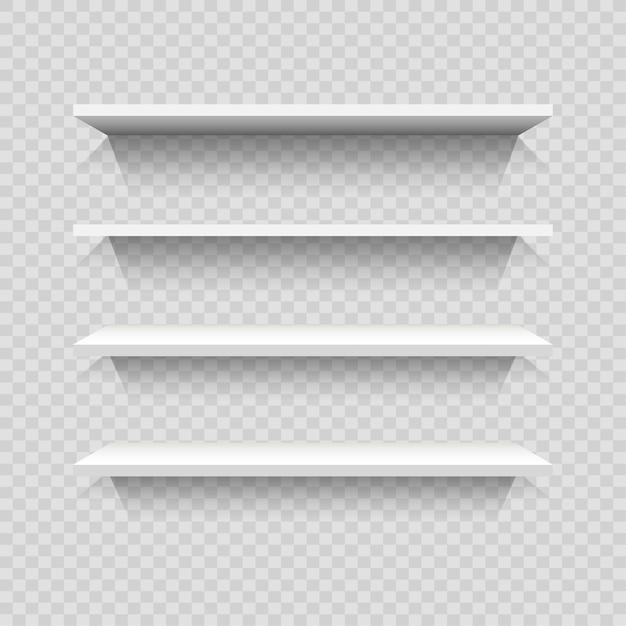 Progettazione di scaffali vuoti Vettore Premium
