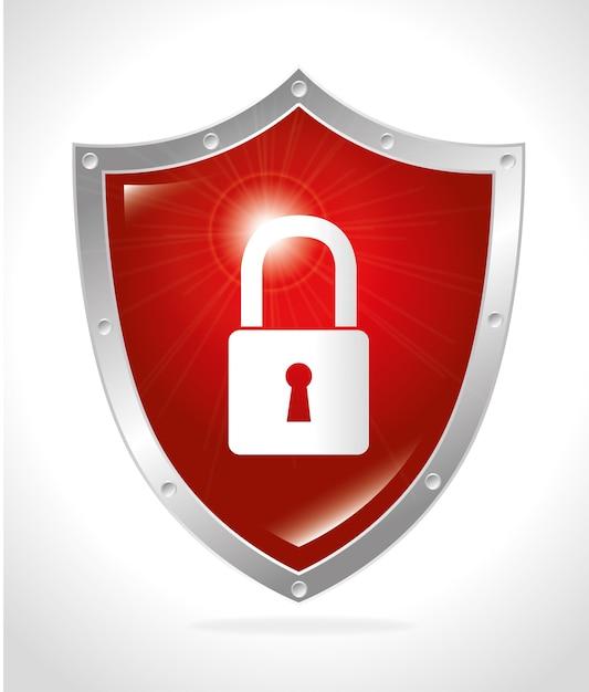 Progettazione di sicurezza, illustrazione vettoriale. Vettore Premium