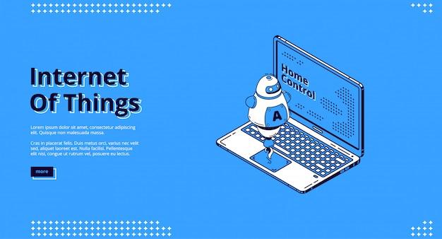 Progettazione di siti web isometrici di internet of things, iot. Vettore gratuito