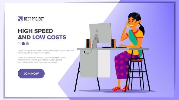 Progettazione di siti web Vettore Premium