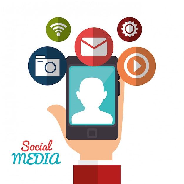 Progettazione di social media Vettore gratuito