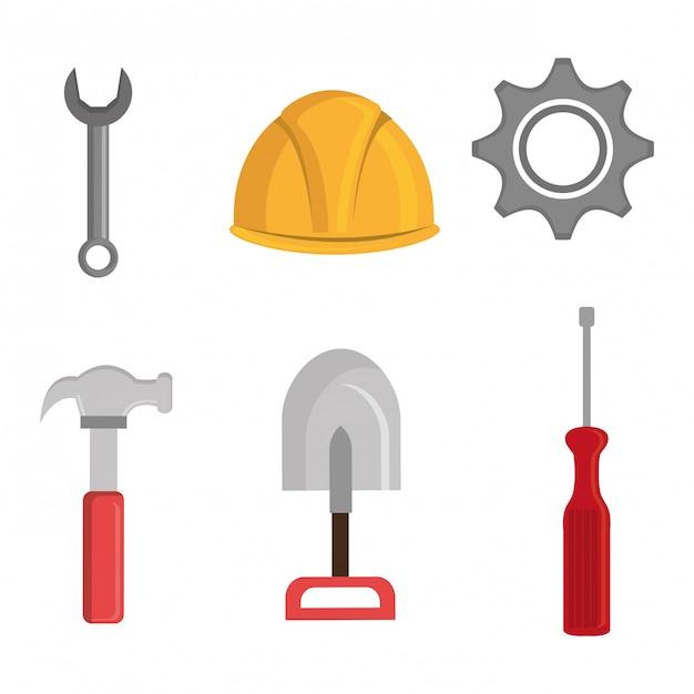 Progettazione di strumenti di costruzione Vettore gratuito