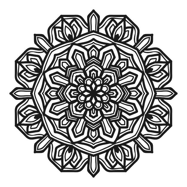 Progettazione di vettore dell'illustrazione del fiore della mandala Vettore Premium