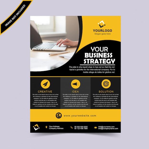 Progettazione di volantino di business creativo Vettore Premium