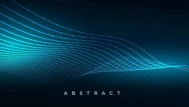 Progettazione digitale del fondo delle linee dell'onda di tecnologia digitale Vettore gratuito