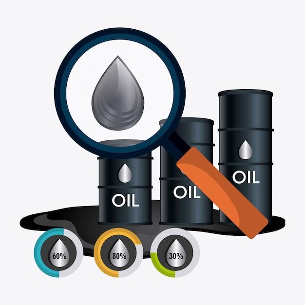 Progettazione economica dei prezzi del carburante Vettore gratuito