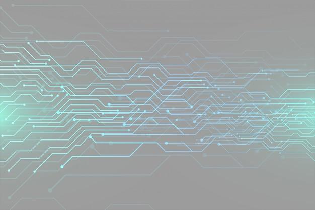 Progettazione futuristica dell'insegna di tecnologia dello schema circuitale di digital Vettore gratuito