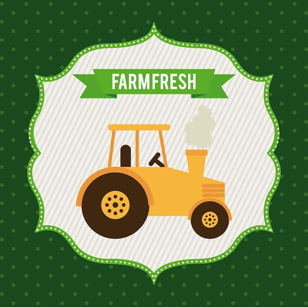 Progettazione grafica dell'azienda agricola Vettore gratuito