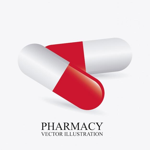 Progettazione grafica di farmacia Vettore gratuito