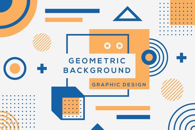 Progettazione grafica di sfondo geometrico Vettore gratuito
