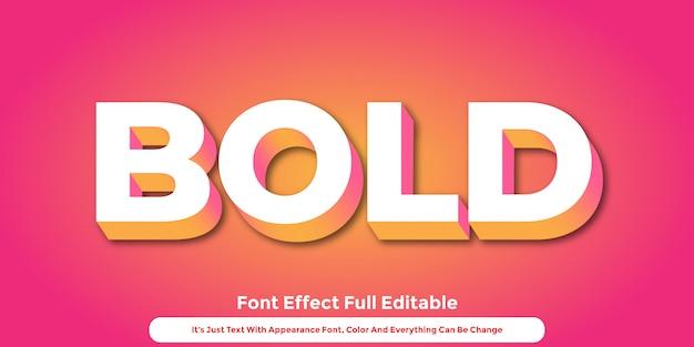 Progettazione grafica di stile del testo astratto 3d Vettore Premium