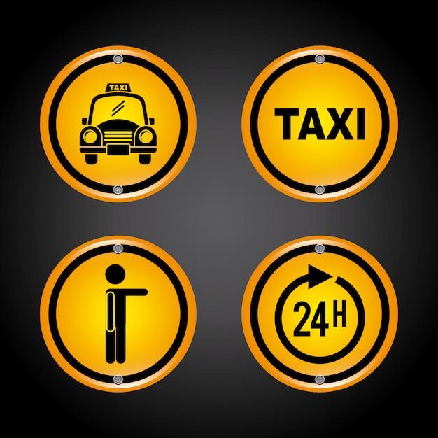 Progettazione grafica di taxi Vettore gratuito