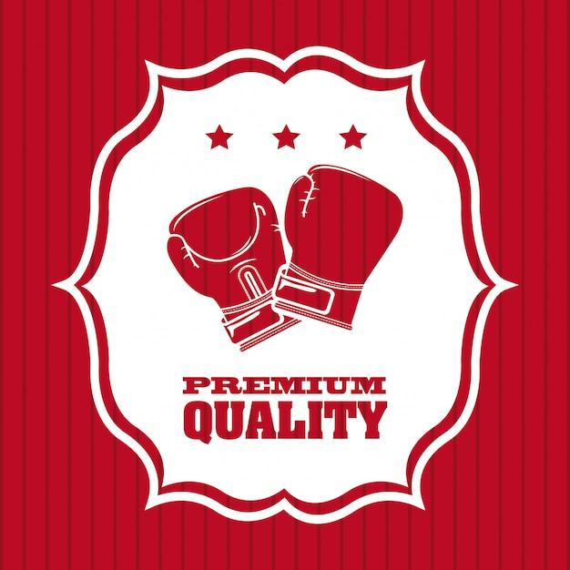 Progettazione grafica logo di qualità premium boxe Vettore gratuito