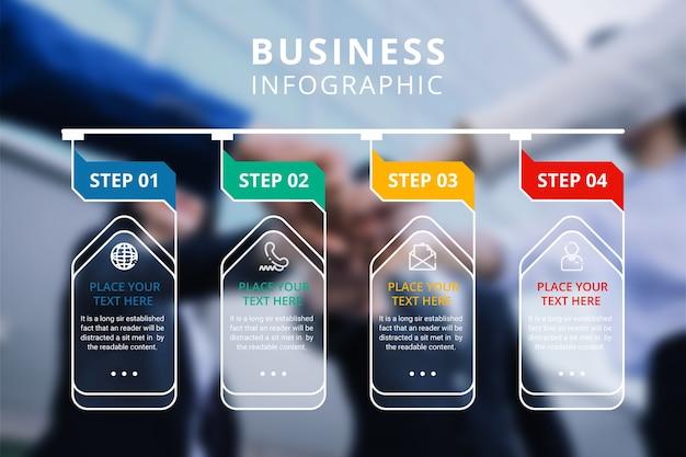 Progettazione infografica aziendale Vettore gratuito