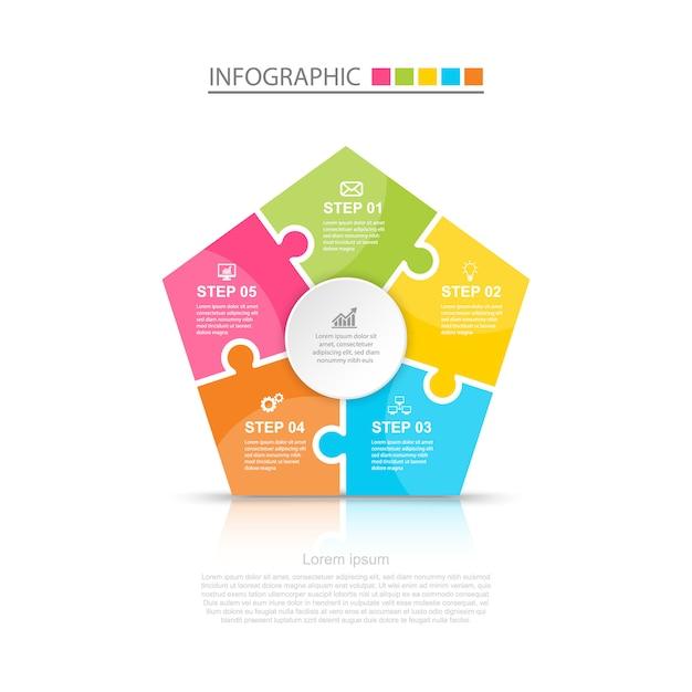 Progettazione infografica aziendale Vettore Premium