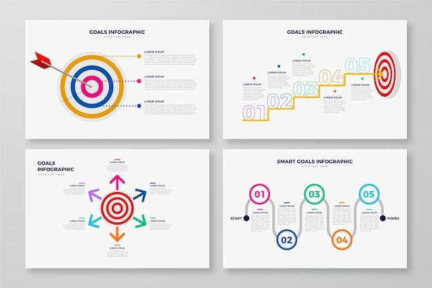 Progettazione infografica concetto di obiettivi Vettore gratuito