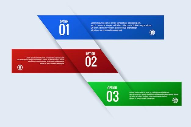 Progettazione infographic dell'insegna di web di concetto di affari creativi Vettore gratuito