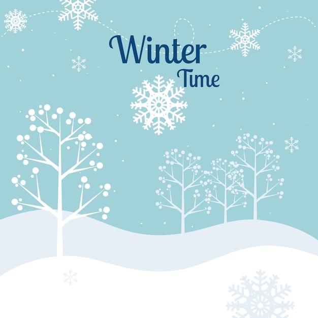 Progettazione invernale, illustrazione vettoriale. Vettore Premium