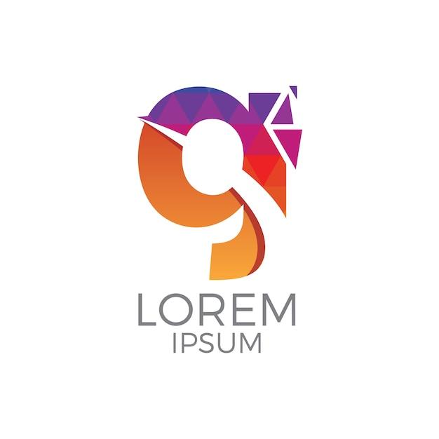 Progettazione logo g lettera Vettore gratuito