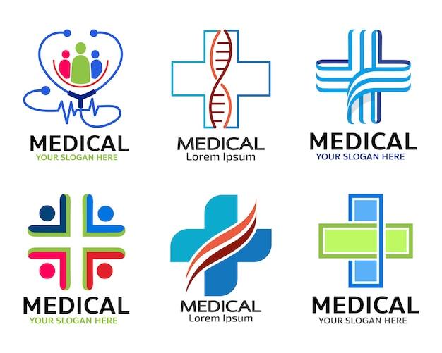 Progettazione medica dell'illustrazione dell'icona di vettore Vettore Premium