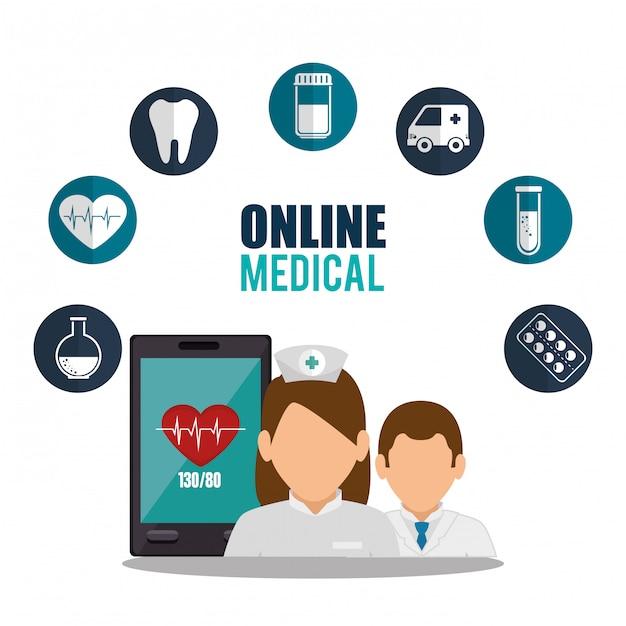 Progettazione medica online Vettore gratuito
