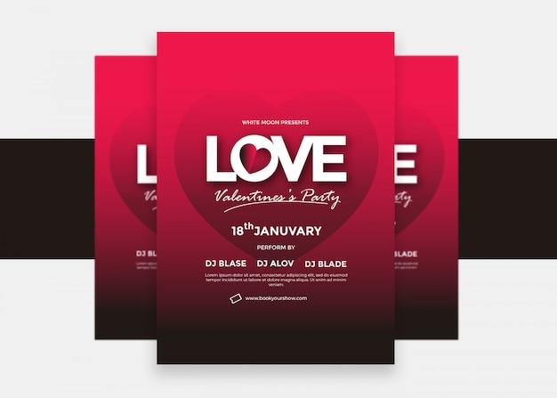 Progettazione moderna creativa variopinta dell'aletta di filatoio del biglietto di s. valentino di amore Vettore Premium