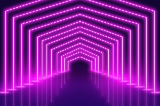 Progettazione porpora del fondo delle luci al neon Vettore gratuito