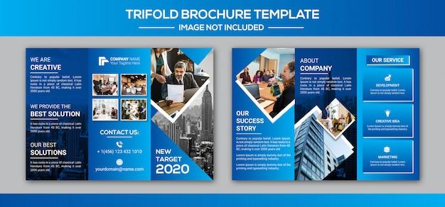 Progettazione ripiegabile dell'opuscolo di affari corporativi Vettore Premium
