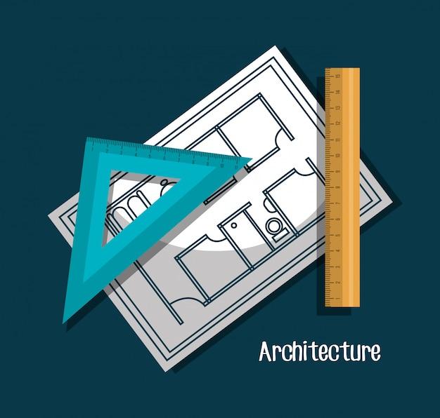 Progetto di architettura Vettore gratuito