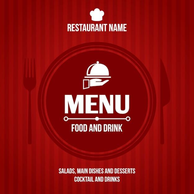 Progetto di copertina del menu del ristorante Vettore gratuito