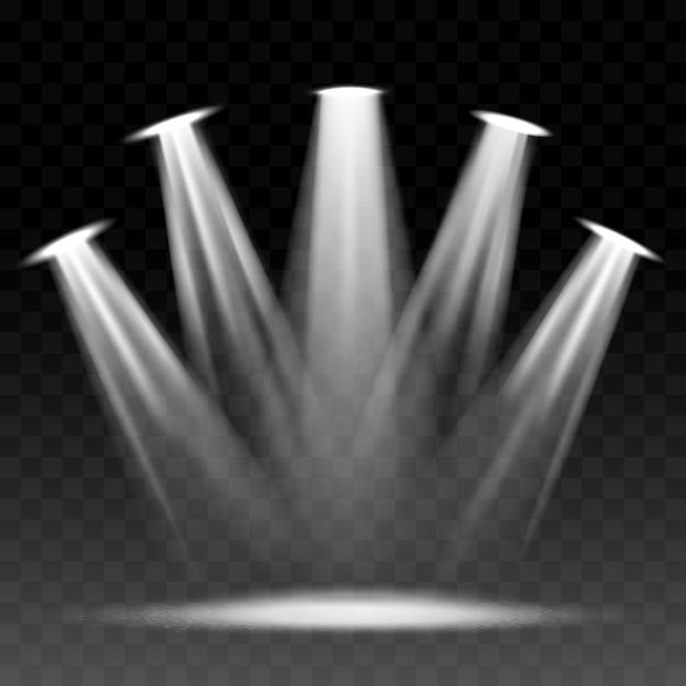 Proiettore illuminato scena Vettore Premium
