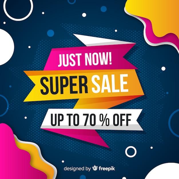 Promozione astratta di vendita super Vettore gratuito