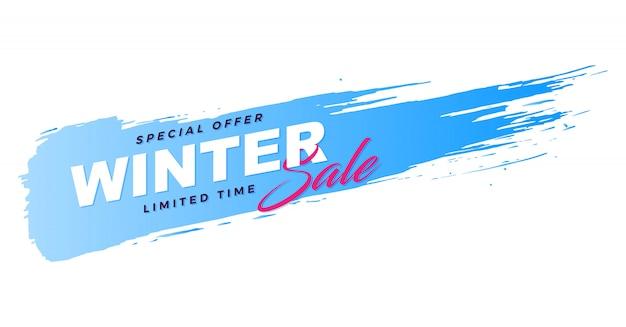 Promozione banner inverno vendita pennello Vettore Premium