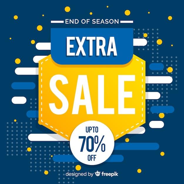 Promozione delle vendite astratta blu e gialla Vettore gratuito