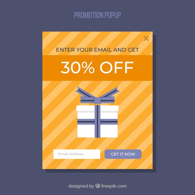Promozioni colorate con design piatto Vettore gratuito