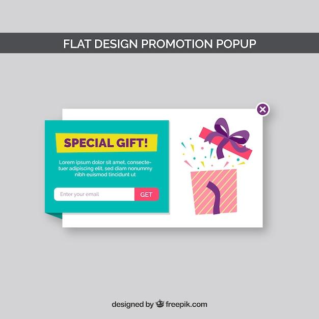 Promozioni moderne pop-up con design piatto Vettore gratuito