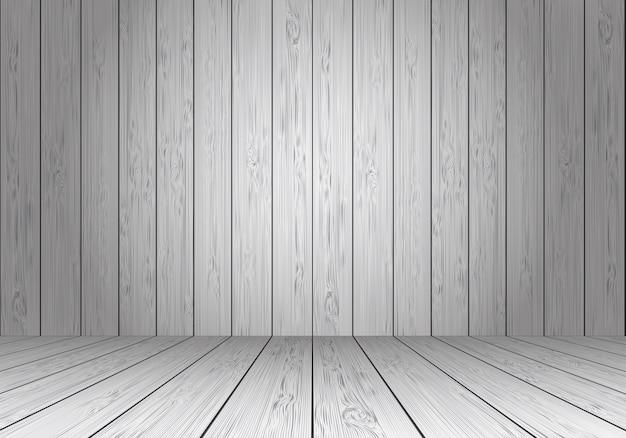 Pavimento Bianco E Grigio : Prospettiva vuota della stanza in bianco della parete e del